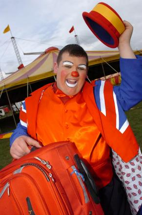 CLOWNING around as part of the circus fun for the festival.
