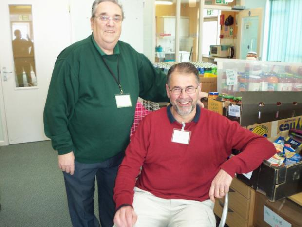 TED Stock, communication and food collection co-ordinator, and Mark Hollidge, centre manager.