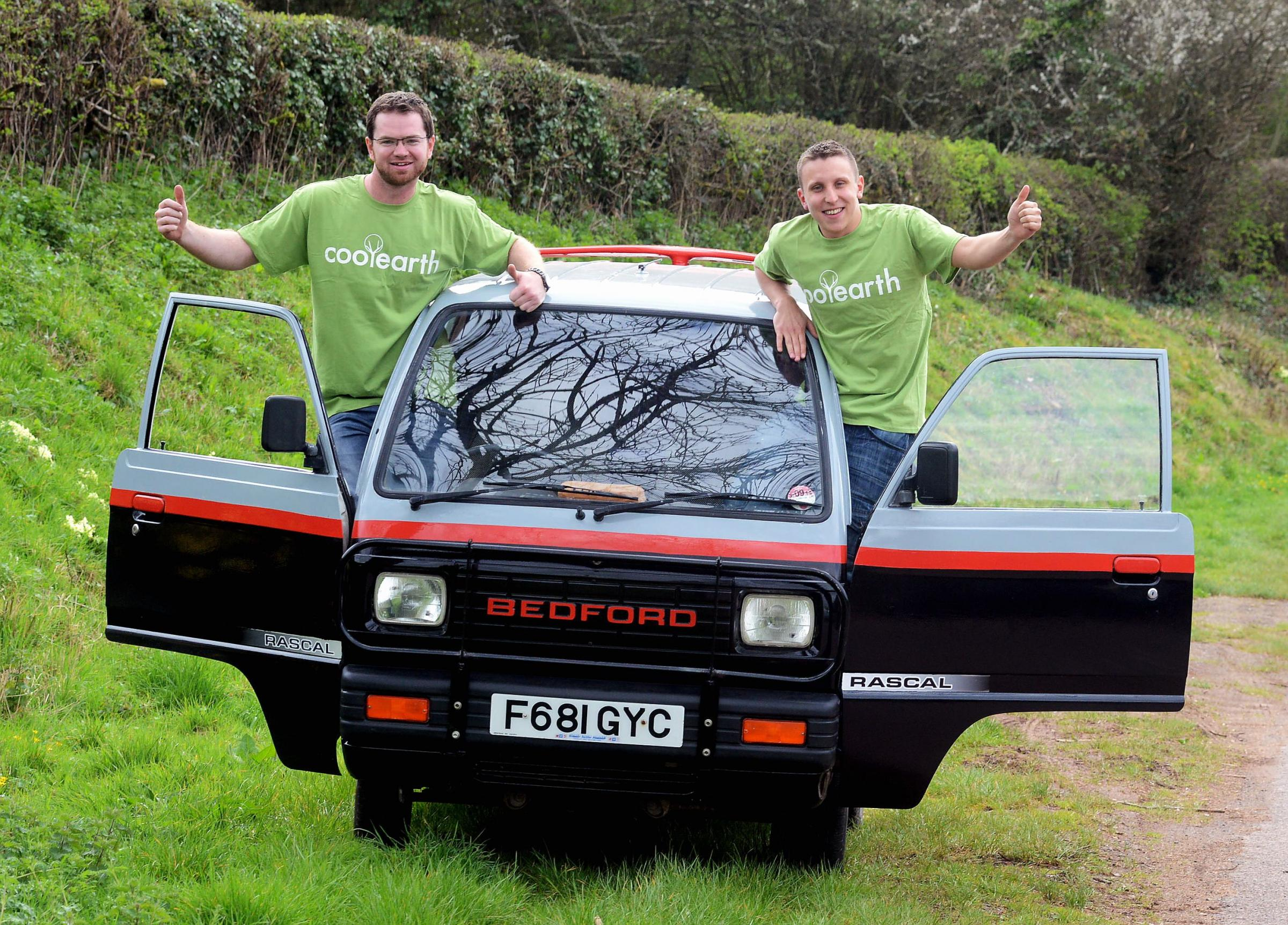 Dan Batten and Josh Vandepeer are taking part in the Mongol Rally.