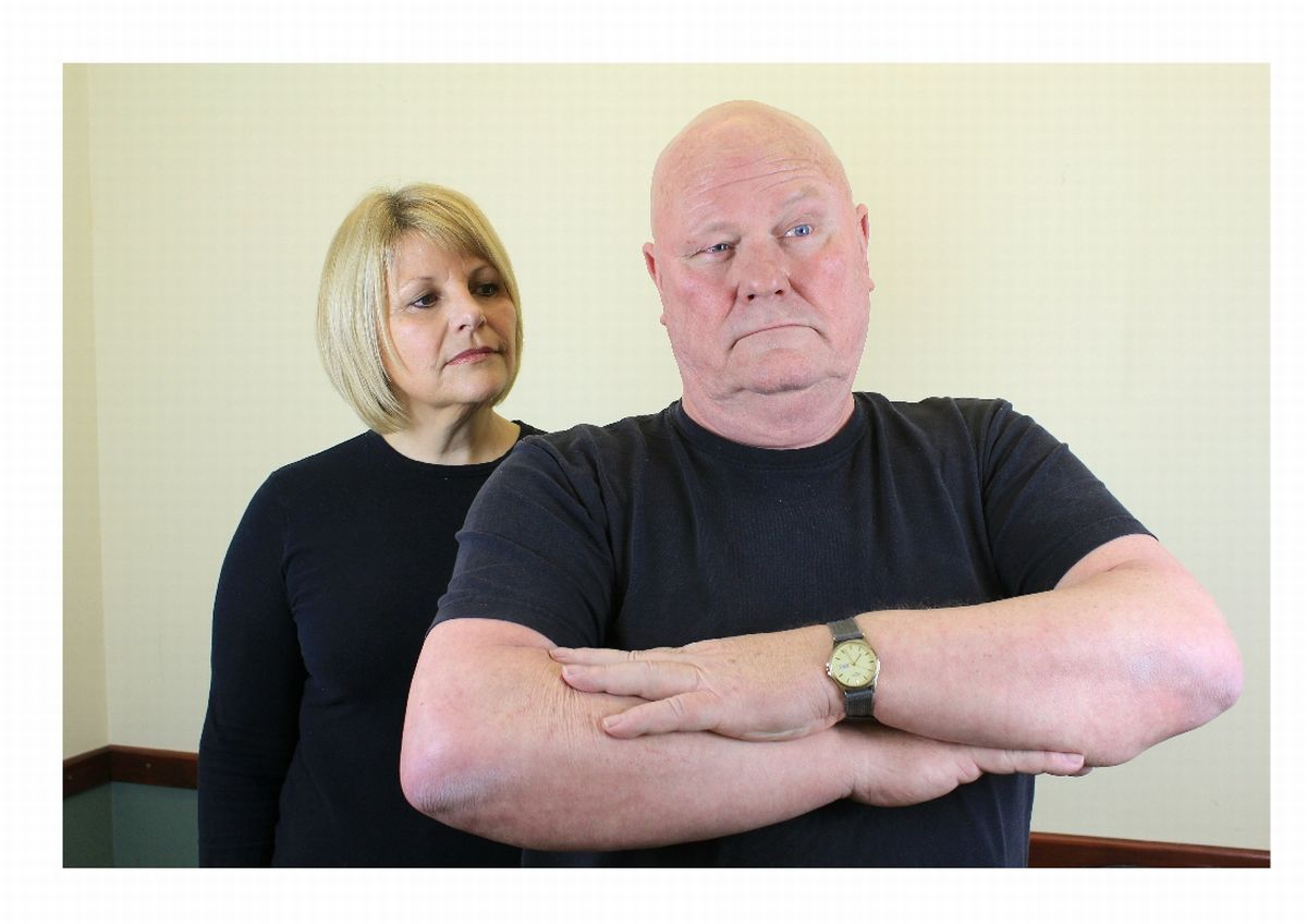 PICTURED are Sue Rawle as Anna and Malcolm Hogg as the King.