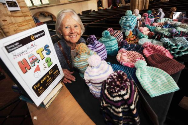 Bridgwater Mercury: Jill New running her stall raising funds for Sightsavers