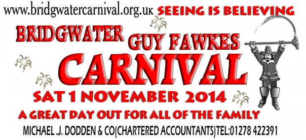 Bridgwater Carnival stickers sold across the UK