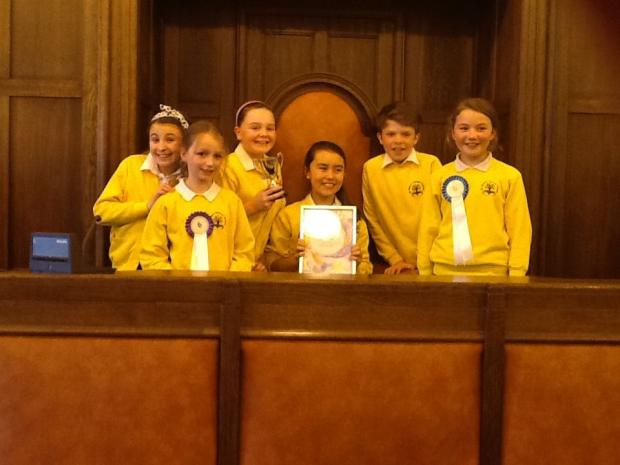 Bridgwater Mercury: CHILDREN from St Mary's Primary School present their project at Somerset Children's Parliment.