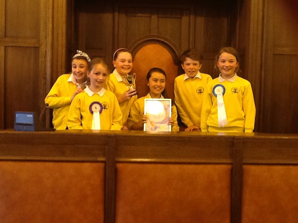 CHILDREN from St Mary's Primary School present their project at Somerset Children's Parliment.