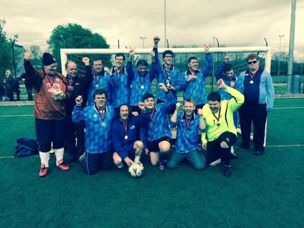 Bridgwater Mercury: FC 1610 celebrate their successful season.