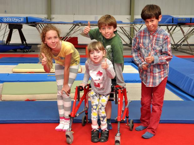 Jessica Avery at the Jump for Jessica trampoline event