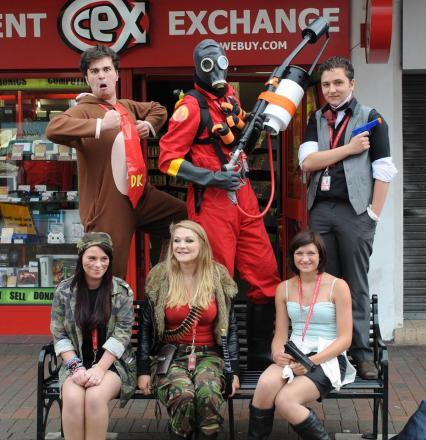CeX staff dress up for the big event. Photo: submitted.