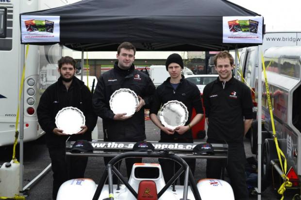 Bridgwater Mercury: PHOTO: TRISTAN Watkins, Nathan Naylor, Henry Marchant and Sam Street.