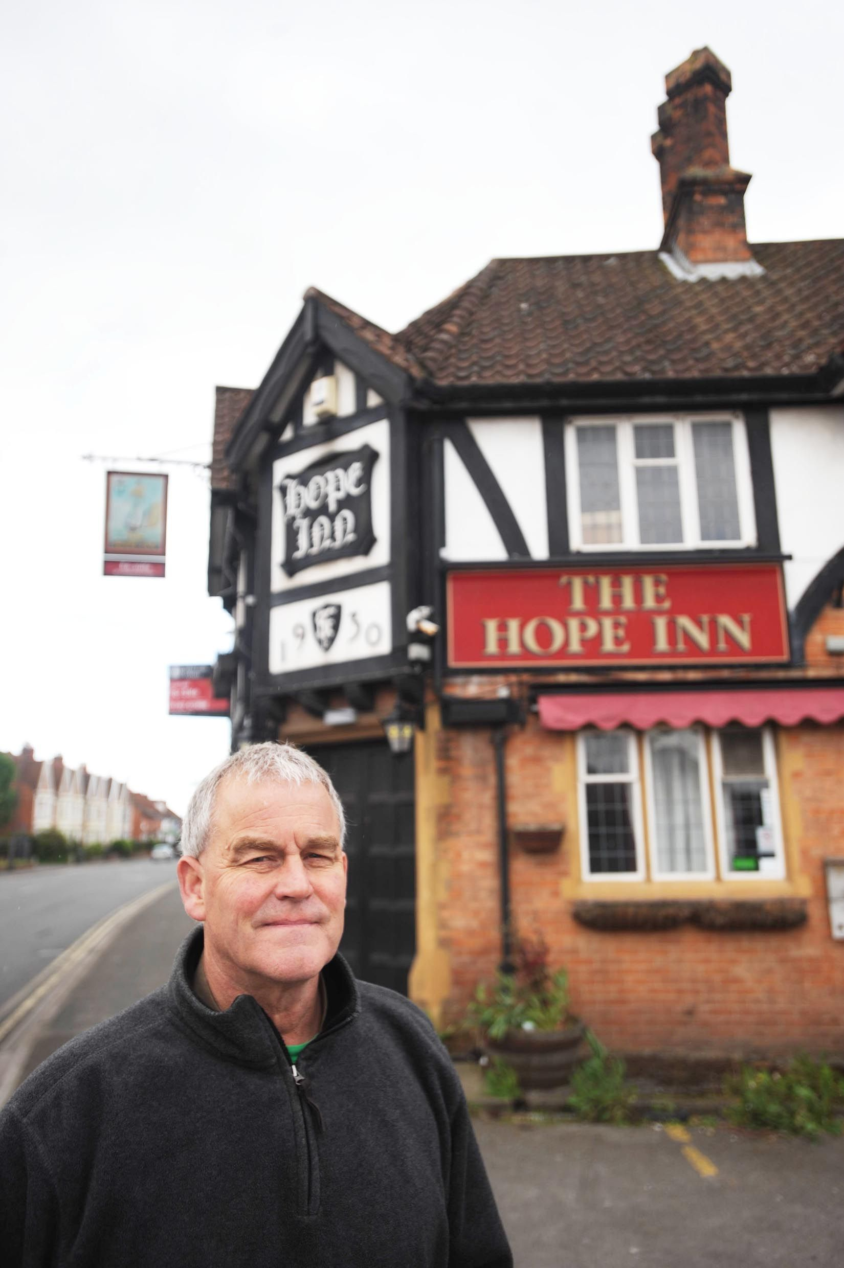 Dave Chapple outside of The Hope Inn on Taunton Road
