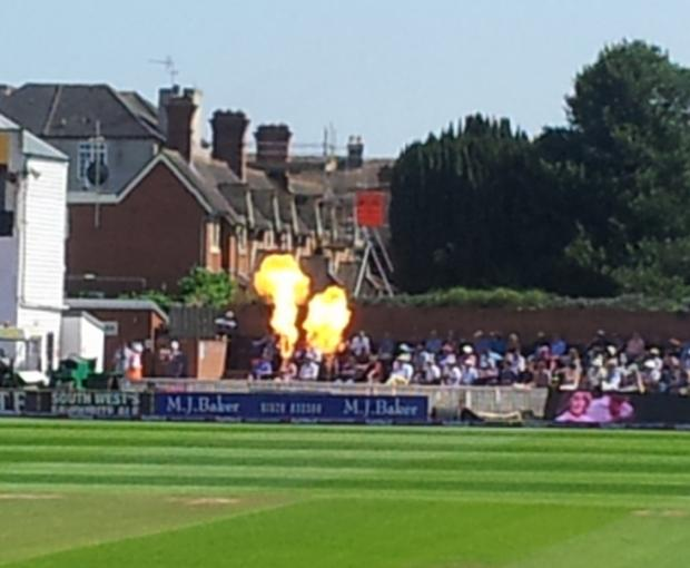 Fours, sixes and wickets were rewarded with pyrotechnic effects