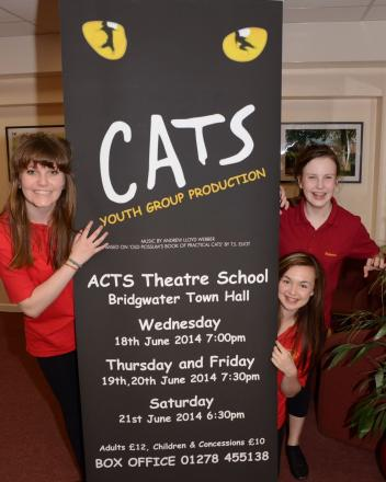 ACTS 'cats' Sam Francis, Ellis Pearce and Shannon Fitzpatrick.