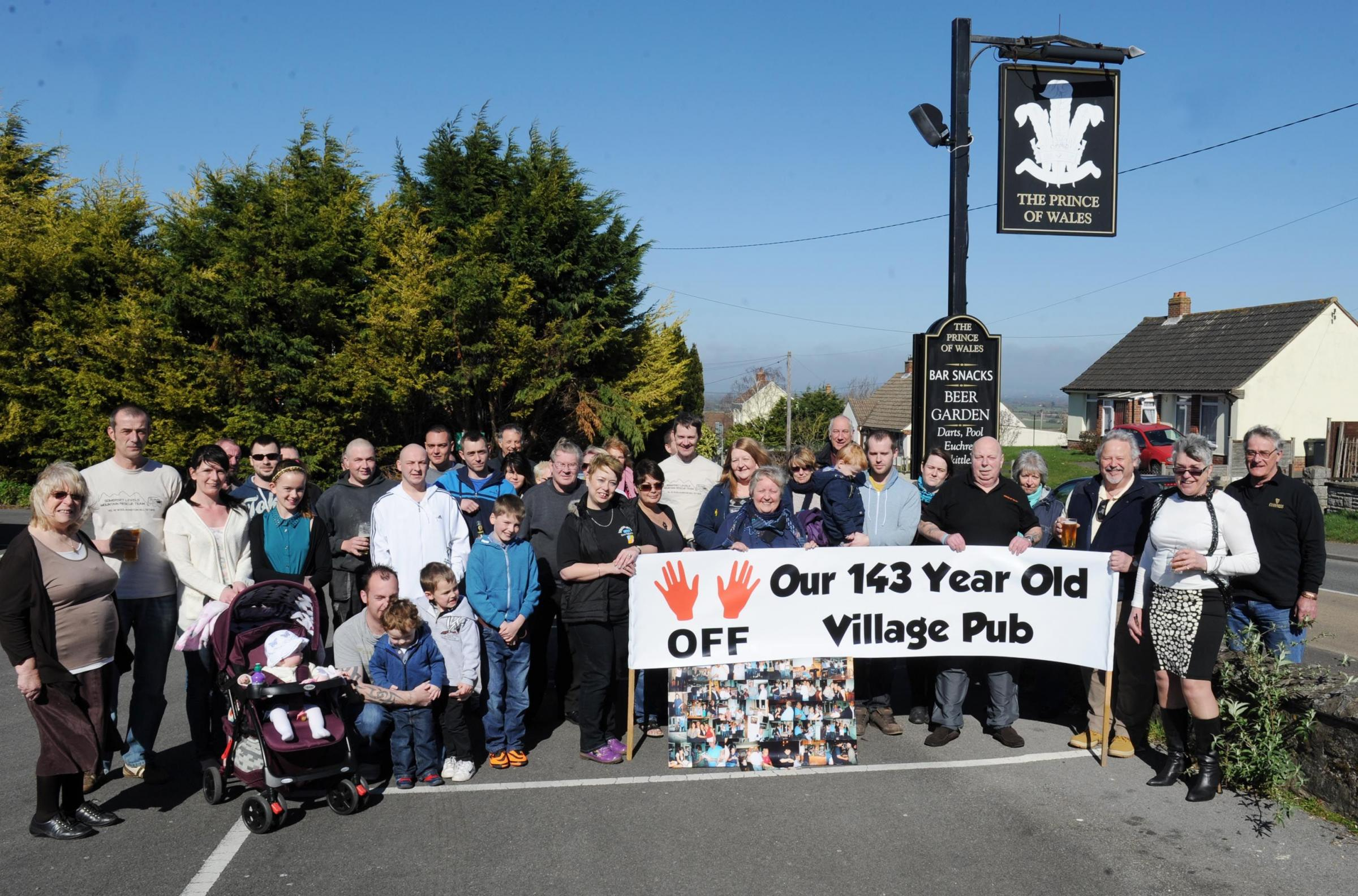 Villagers campaign to save their Prince of Wales pub in Woolavington