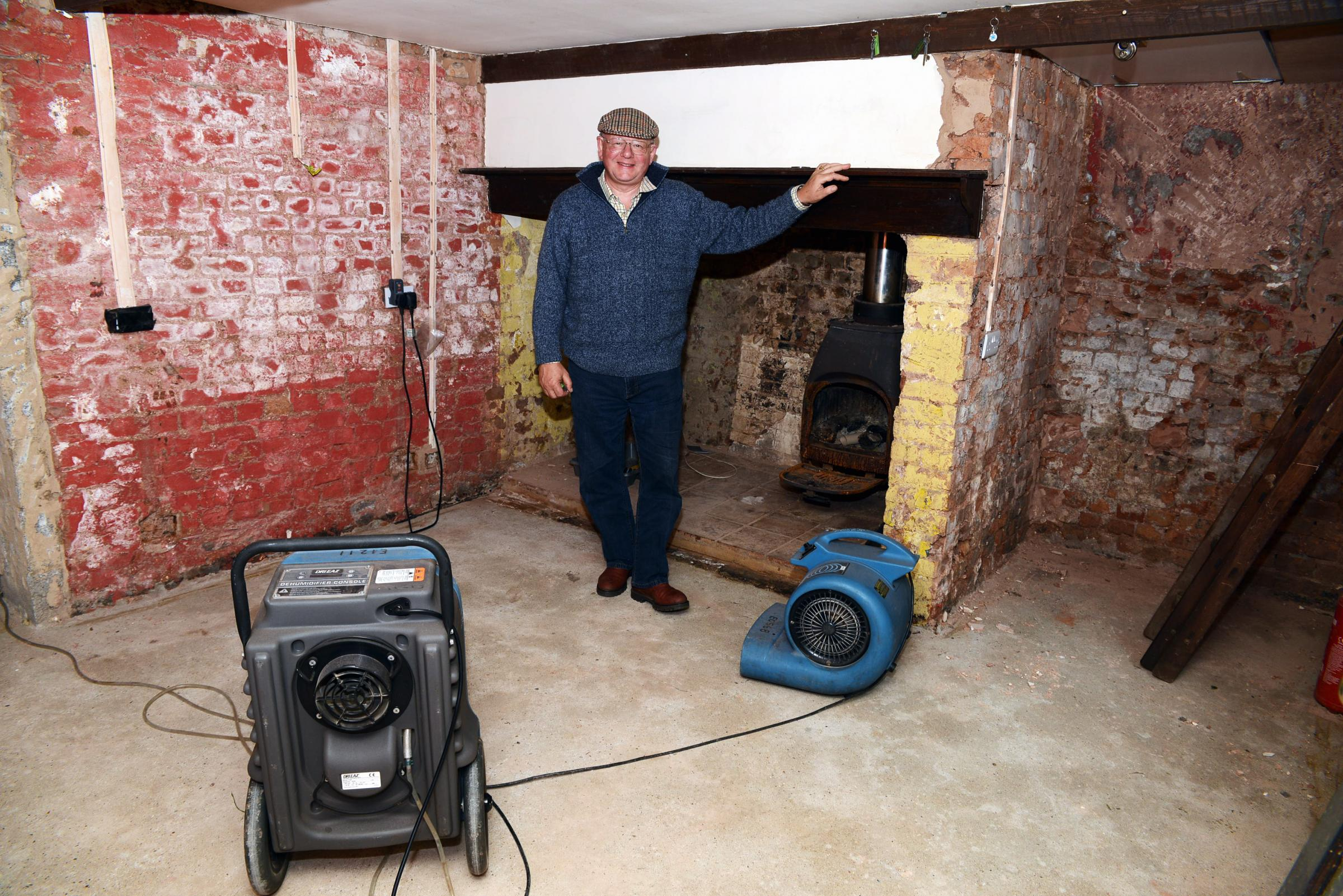 John Griffin asked for local builders to carry out work at his flood-hit home in Moorland. Photo: Jeff Searle.