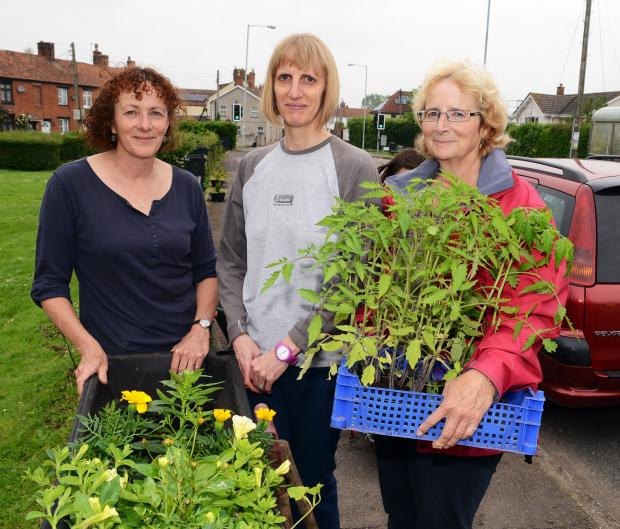 Fiona Stanley, Sarah Jones and Meg Winfield get ready to make Cannington bloom