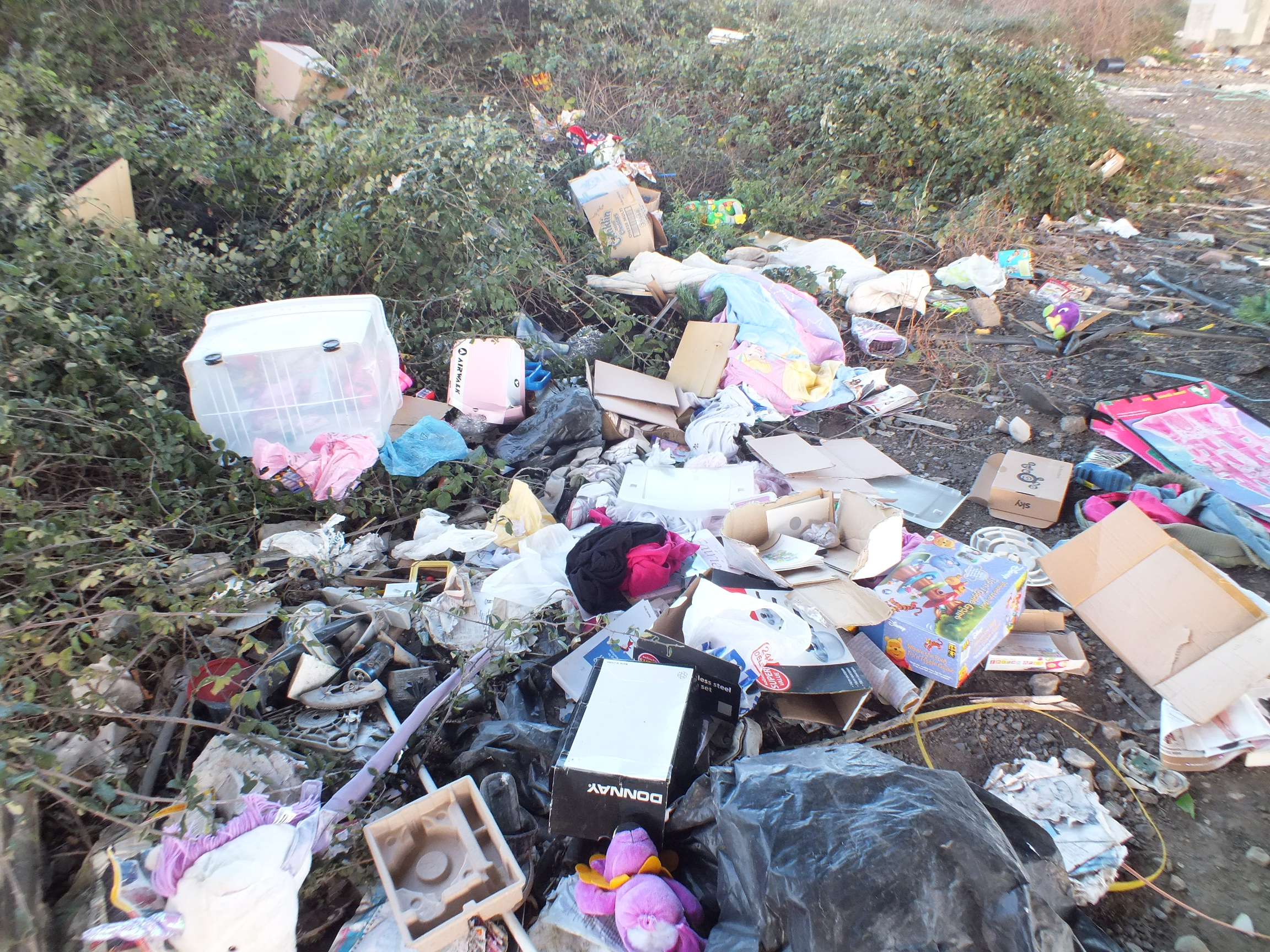 The flytipped rubbish. Photo: submitted.