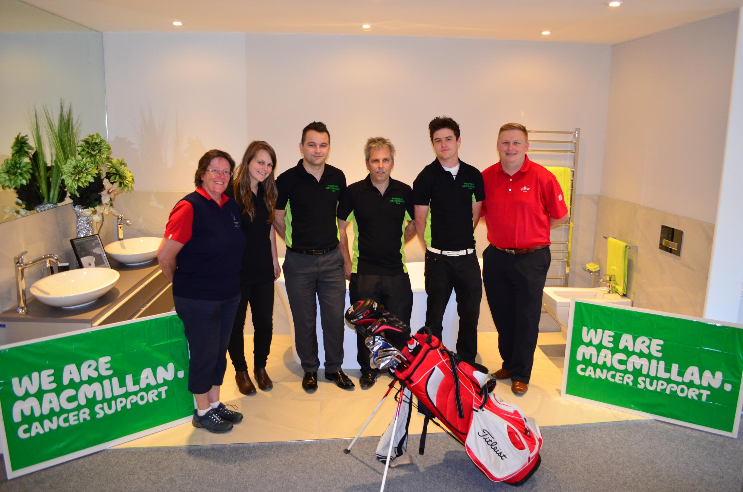 Judith Sperring, Enmore's Lady Captain, Shannon Neal, Daniel Neal, Paul Neal, Jacob Eyres and Oake Manor's Pro, James Smallacombe. Photo: submitted.