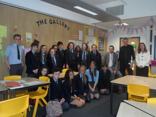 Members of Year Nine at Chilton Trinity School and members of Sedgemoor District Council's legal team. Photo: submitted.