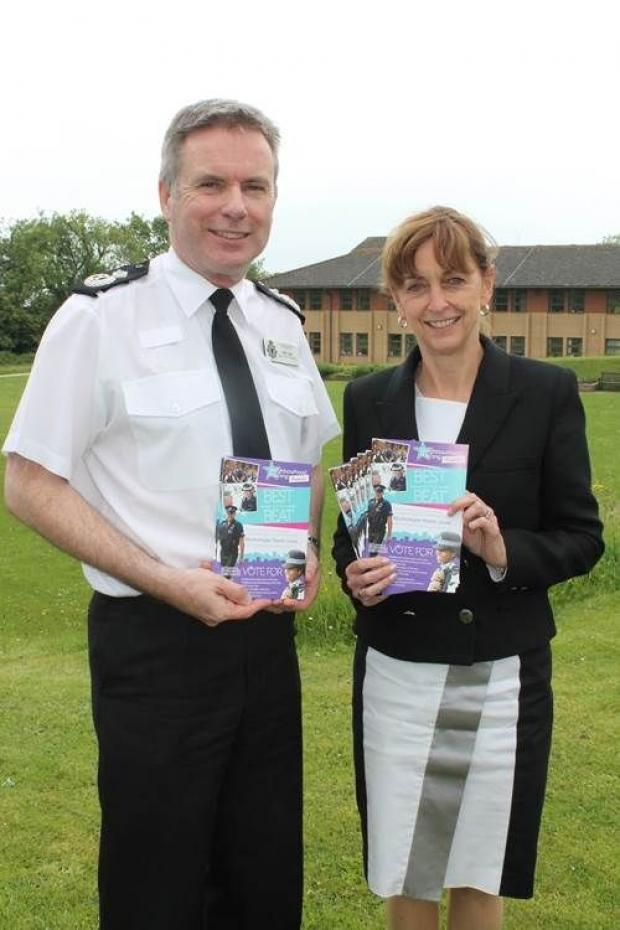 Bridgwater Mercury: Acting Chief Constable John Long and PCC Sue Mountstevens launch the awards.
