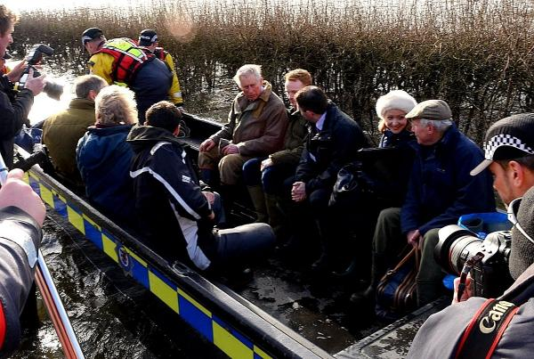 Prince Charles during his visit to Muchelney in February.