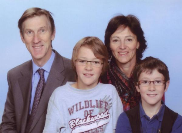 Andrew and Estella Hoare with their sons, Jasper and Friso.