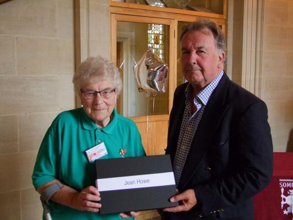 JEAN Howe MBE with Cllr William Wallace.