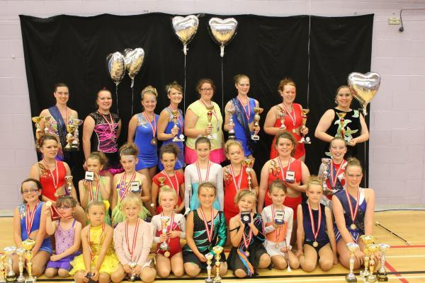 The Chameleon Batonettes troupe scored a host of awards at the National Championships. Photo: submitted.