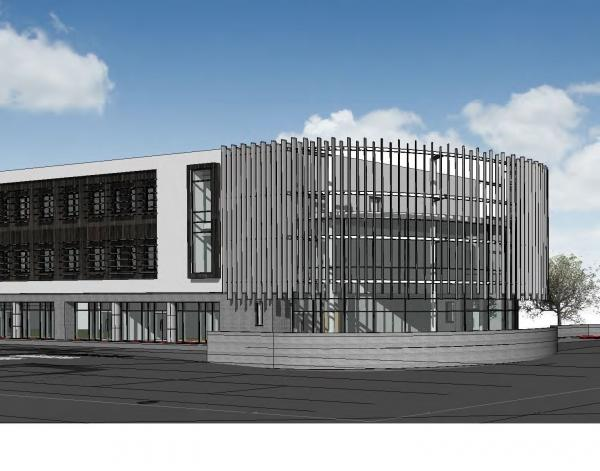 AN artist's impression of the Innovation and Collaboration Centre.
