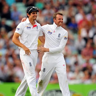 Graeme Swann, right, does not believe Alastair Cook is the right man to lead England's one-day side