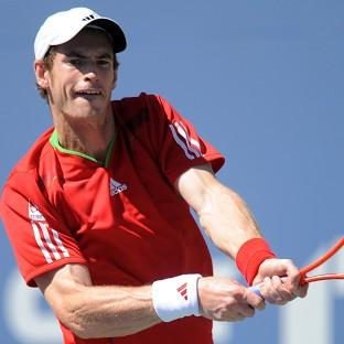 Andy Murray, pictured, was not troubled by Matthias Bachinge