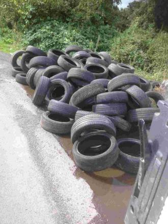Sedgemoor District Council quick off the mark to remove 116 dumped tyres