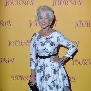 Dame Helen Mirren attends the gala screening of The Hundred Foot Journey at Curzon Mayfair, Lon