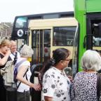 Bridgwater Mercury: Integrated transport: buses for Malham, Ilkley and Grassington meet at Skipton
