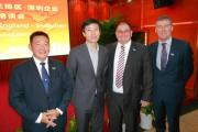 PICTURED during the 2013 Mission are: Brendan Pang, Stokes Partners, Mr Tao, chief executive of Shenzhen China Council for the Promotion of International Trade, Rupert Cox, of Somerset Chamber of Commerce and Mark Hayes, of Somerset College