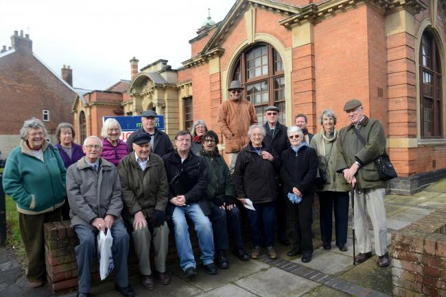 CAMPAIGNERS outside the former Bridgwater Magistrates' Courthouse in Northgate.