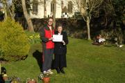 Stogursey pensioner gets cash boost for cemetery