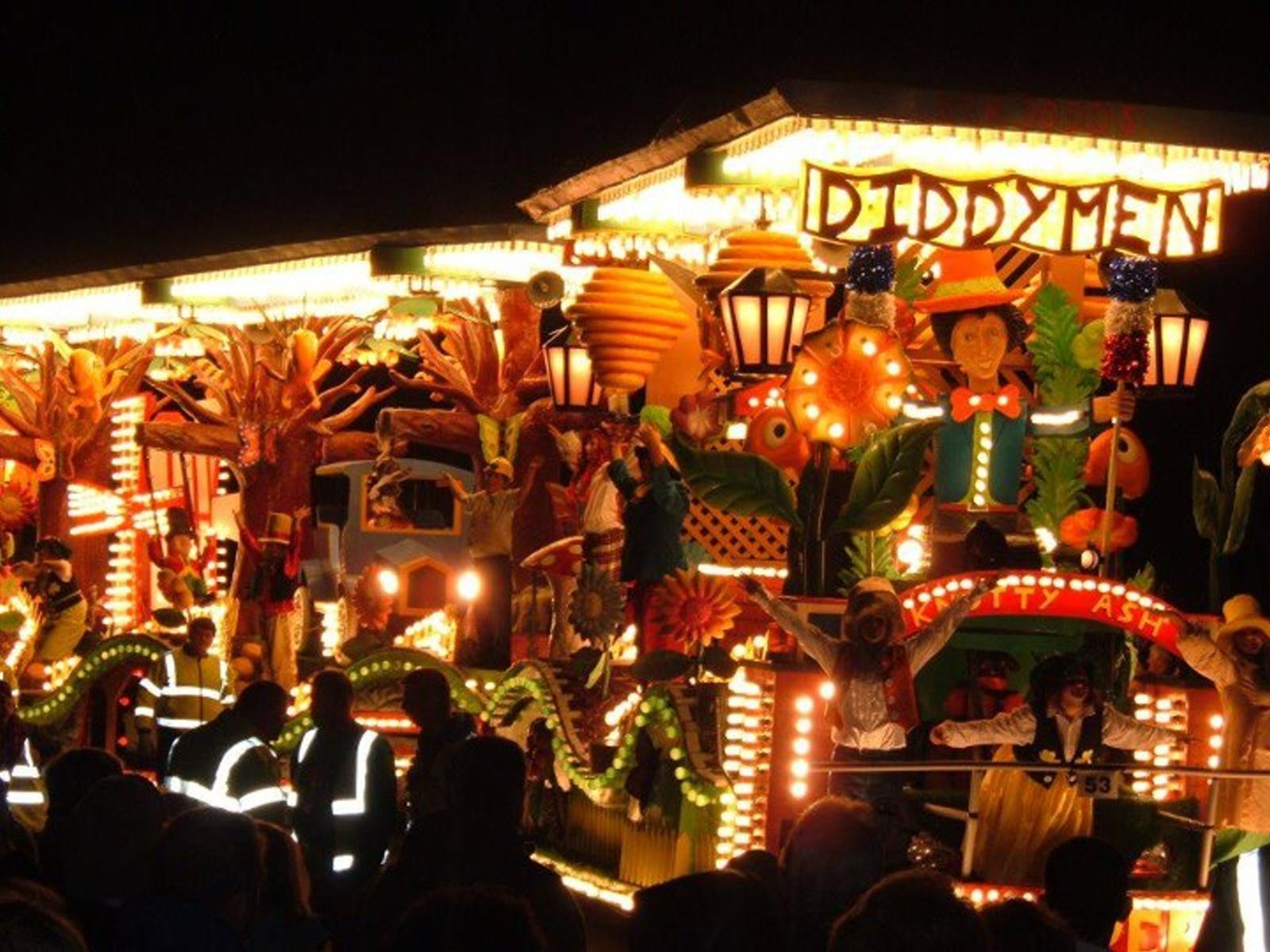 CARNIVAL: the procession starts at 7pm but don't miss the daytime activities