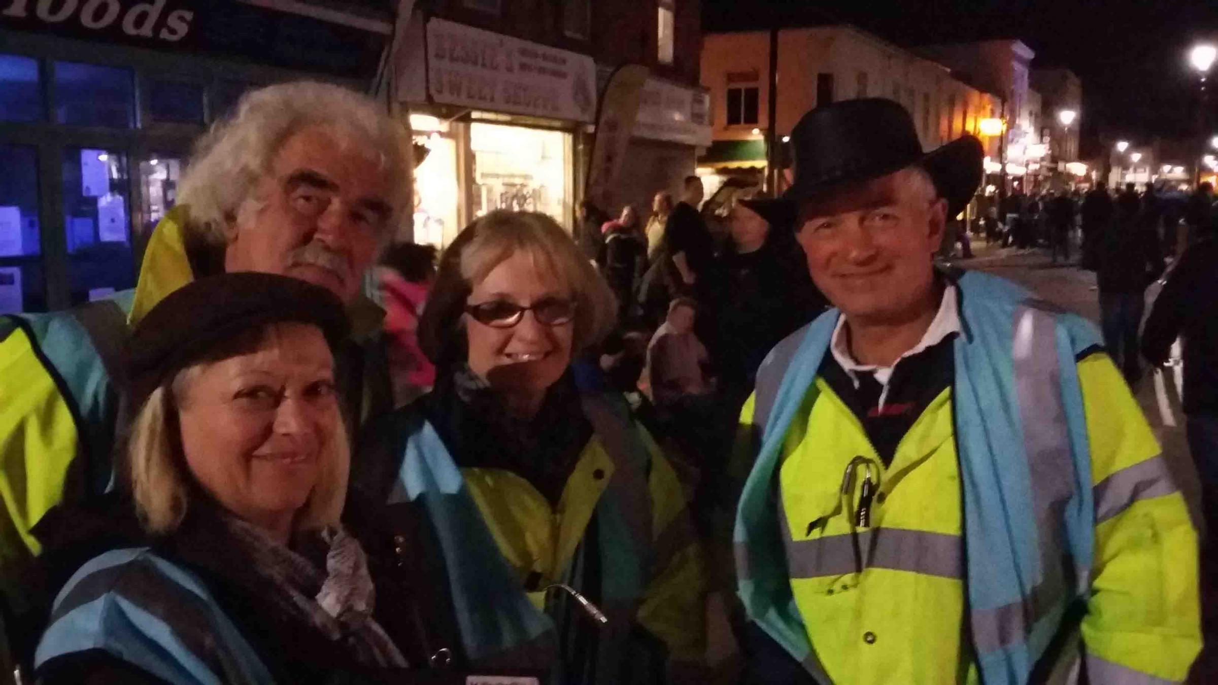 Some of the judges at Burnham-on-Sea last night