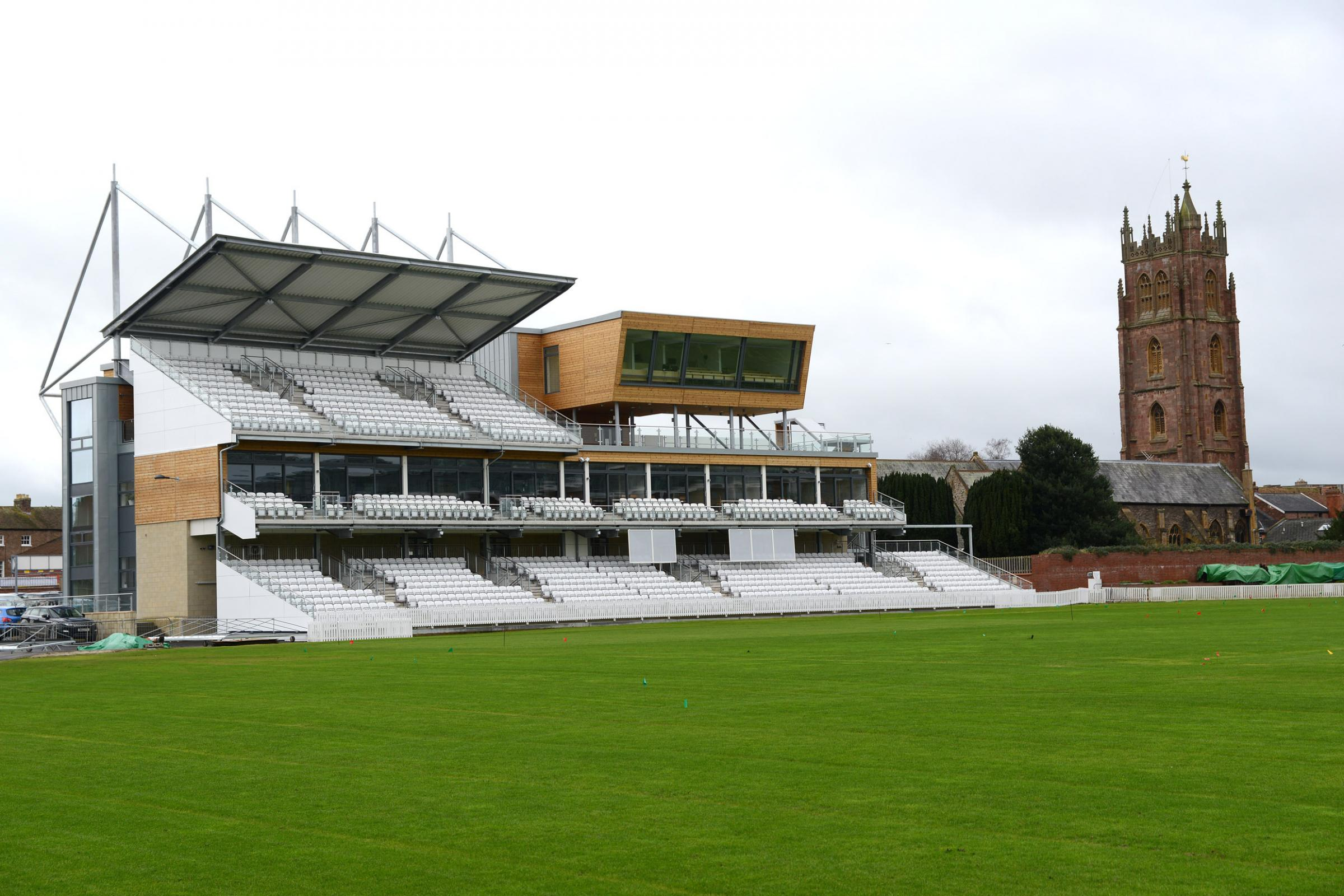 SAFE... FOR NOW: Somerset have avoided a points deduction after a 'below average' pitch for the match against Middlesex.