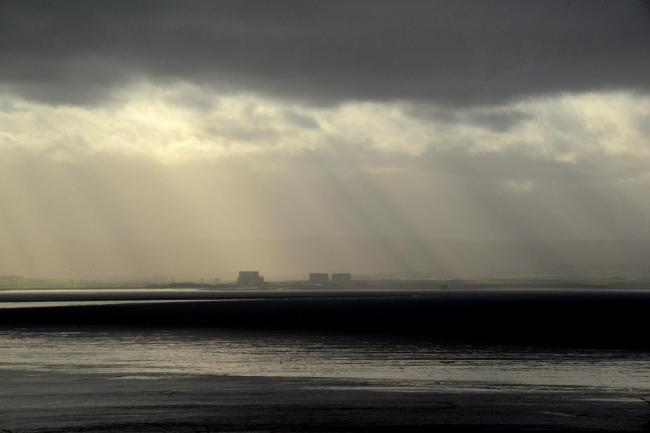 SOMERSET LANDSCAPES 2016; View of Hinkley Point from Brean Down, Somerset
