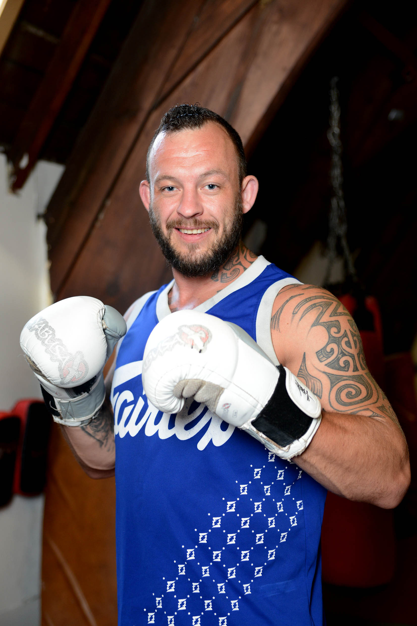 READY: Bridgwater fighter Mark Godbeer is raring to go.