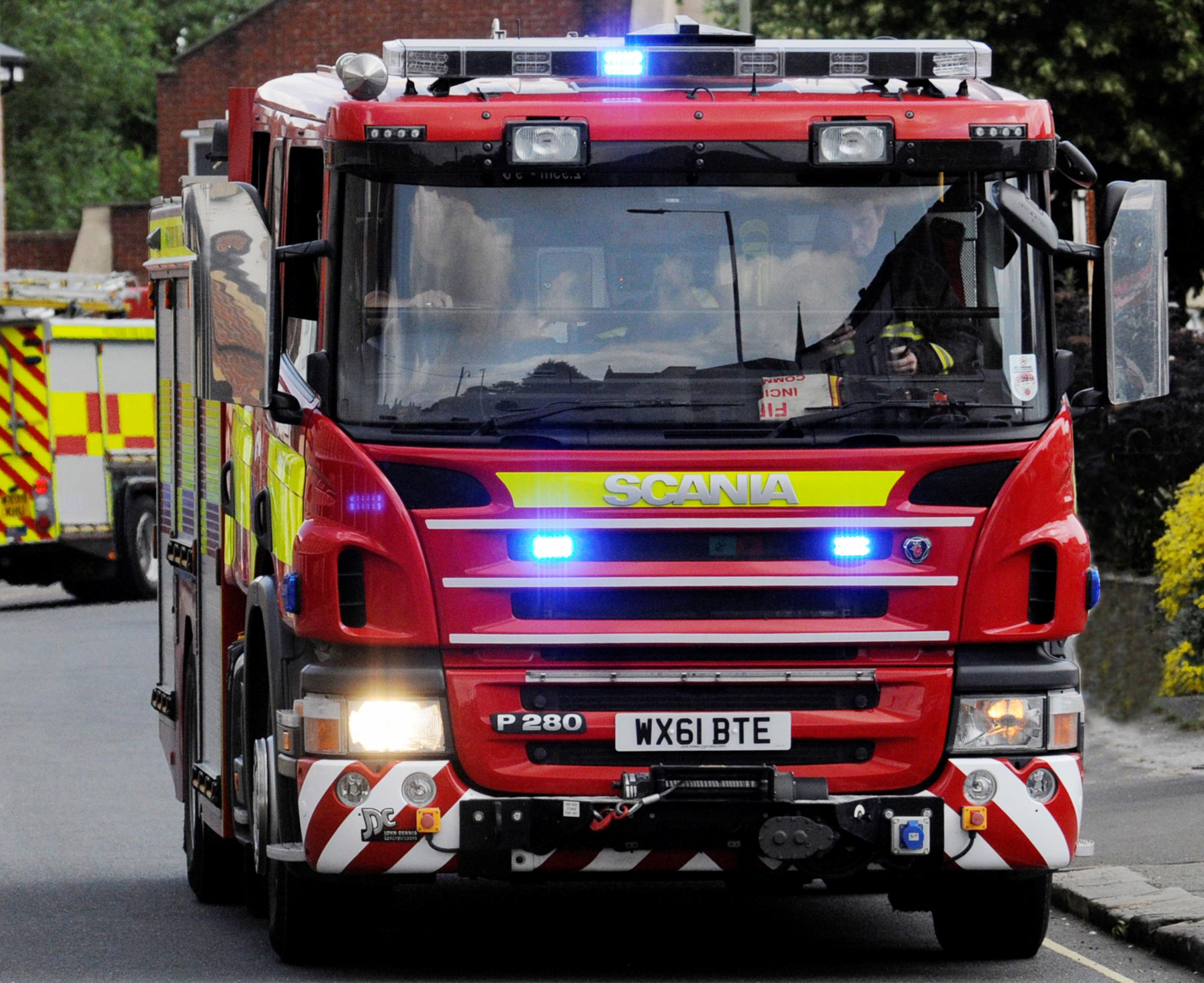 AT RISK: There is an indication the third fire appliance at Bridgwater Fire Station is at risk