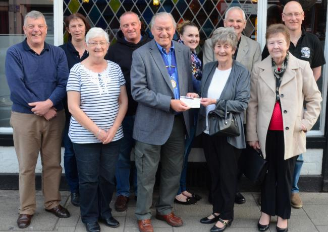 CHEQUE DONATIONS: £1,200 to Musgrove Leukemic Group Somerset