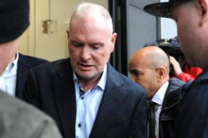 Paul Gascoigne arrives at court for racial abuse hearing