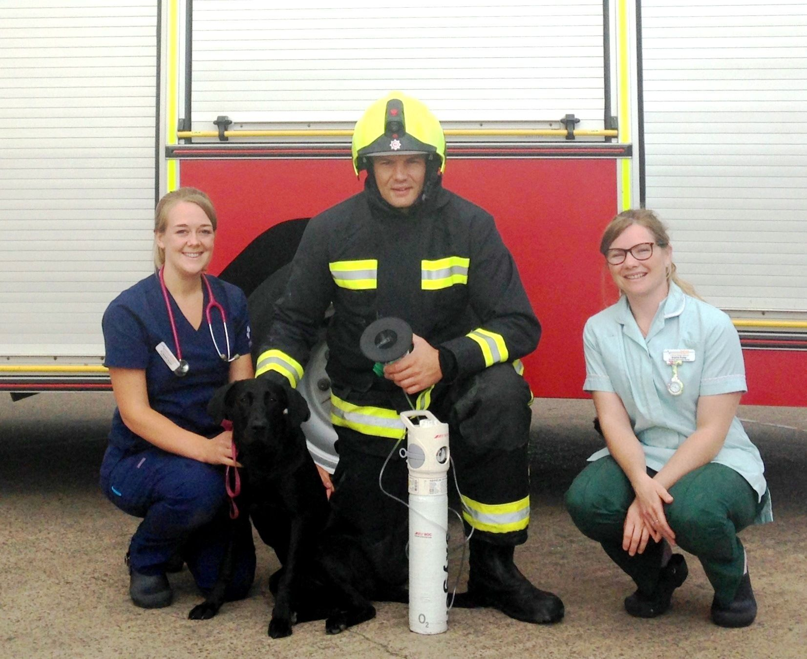 OXYGEN MASKS: Quantock Veterinary Hospital has donated the new equipment