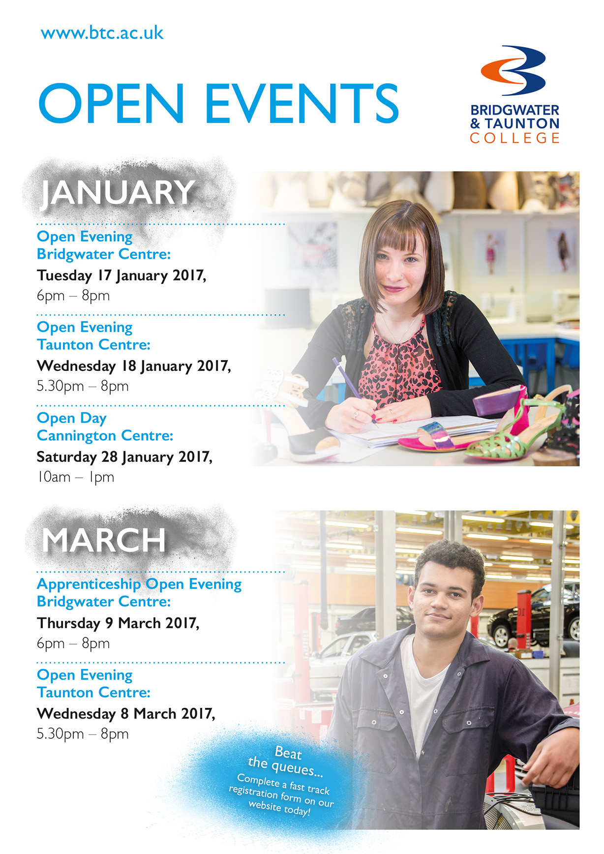 Bridgwater and Taunton College, Open Evening at Taunton Centre