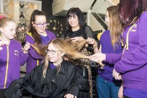 CUTTING IT: Amber Badman donated hair to The Little Princess Trust Picture: GDJ Photography