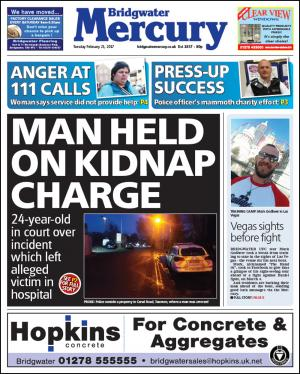 Bridgwater Mercury: Man charged with wounding and kidnap following attack