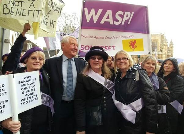 BACKING: The ladies of Somerset WASPI meet Lord Paddy Ashdown