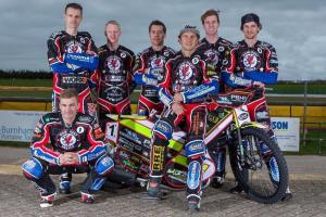 NEW SEASON: The 2017 Rebels line-up. Pic: Somerset Speedway