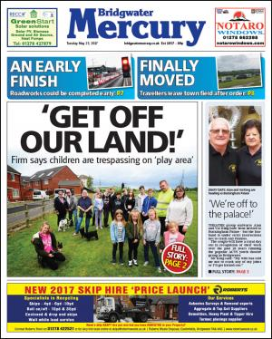 Bridgwater Mercury: GET OFF OUR LAND!: Anger after community told it is trespassing on grassland